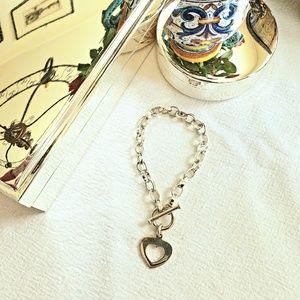 Silpada. 925 sterling silver heart bracelet